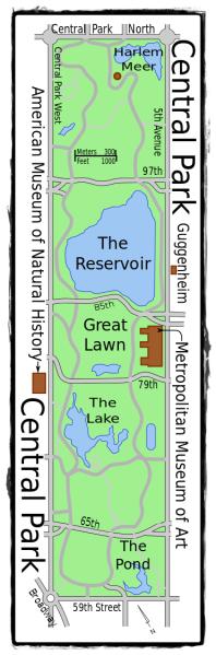 Sommerkuss-Blogtour Karte Central Park
