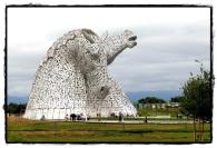 Kelpie-Statue in Falkirk